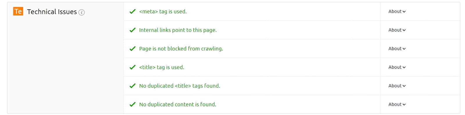 On Page SEO Checker screenshot